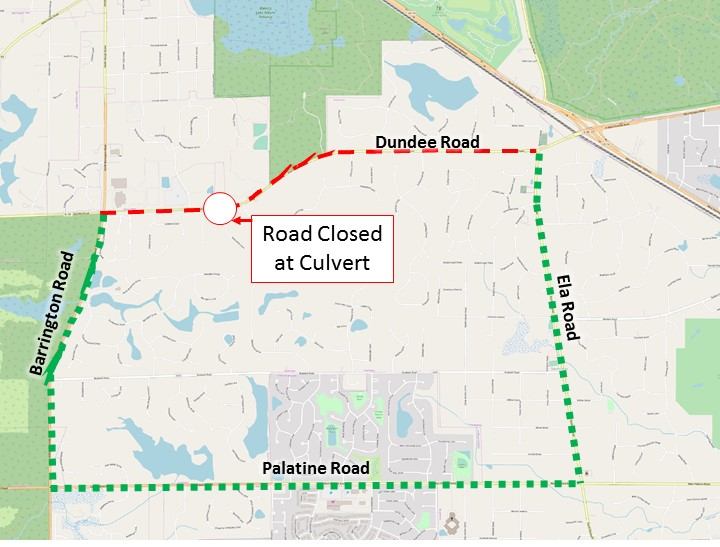 Dundee Road to Close for Culvert Replacement | Village of Inverness on illinois farm, florida dot district map, illinois state, illinois congressional representatives, illinois house of representatives district map, illinois counties,